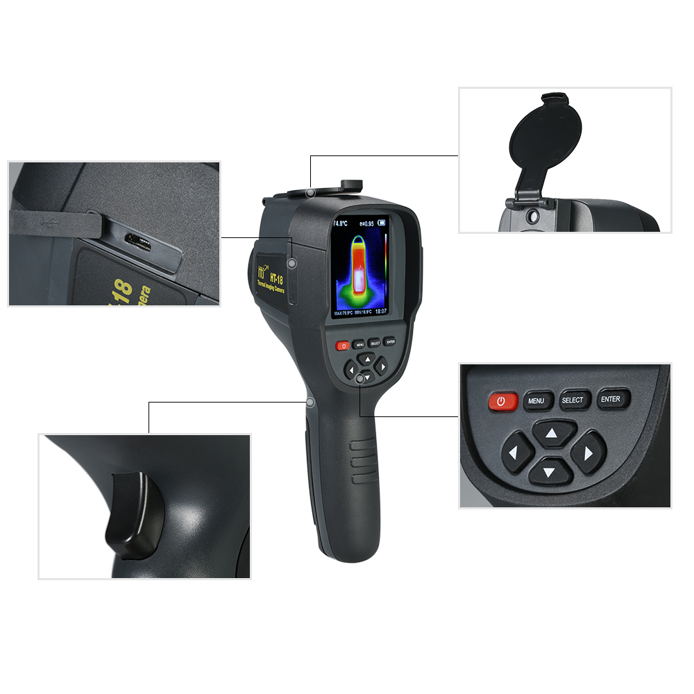 thermal camera imager IR infrared thermometer temperature thermal imaging tool HT-18 220*160 - KingCare | KingCare.net