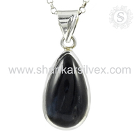 Lavish design pita jade gemstone silver pendant wholesaler 925 sterling silver jewelry jaipur exporter