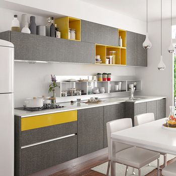 Linear Modern Style Wall Kitchen Cabinet Design For Small Apartment Home Hotel Cabinets