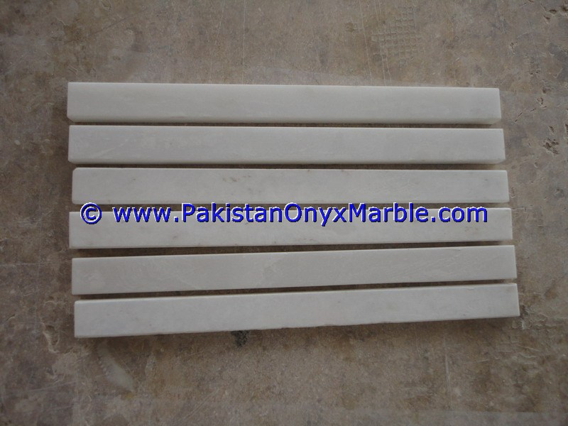 CREATIVE DESIGN MARBLE MOLDING PENCIL LINER RAIL DECORATIVE BULLNOSE TRIM BORDER ZIARAT CARRARA WHITE