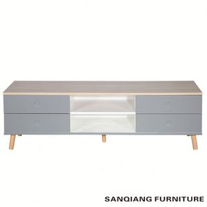 hot Living Room Furniture SANQIANG wooden led tv stand furniture tv cabinet with showcase tv stand furniture