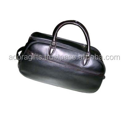 Fashion Genuine Leather Travel Bag for Men with OEM ODM / Old style genuine leather men executive travel bag