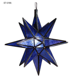 HANGING BLUE STAR LANTERNS