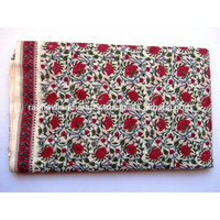 Floral Sanganeri Hand block printed pure natural cotton 100% cambric running fabric wholesaler manufacturer