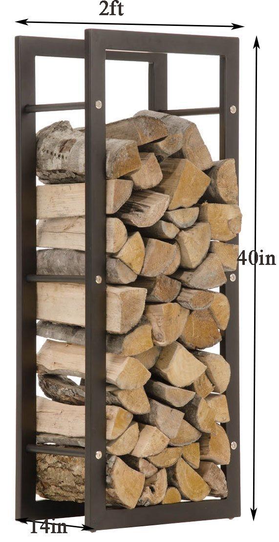 WGX Indoor/Outdoor Decorative Firewood Storage Log Rack Holder (2-Feet Log Rack)