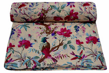 Indian latest handmade 100% cotton bird print hand block printed fabric