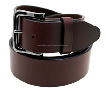 High Quality Cowboy Style Custom Men's Genuine Leather Belt / 100% cowhide genuine classic pin buckle man leather belt