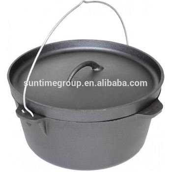 Factory Supply Cast Iron Dutch Oven/Camping Cookware no Leg for Sale