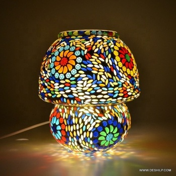 Mosaic Multi Color Table Lamp