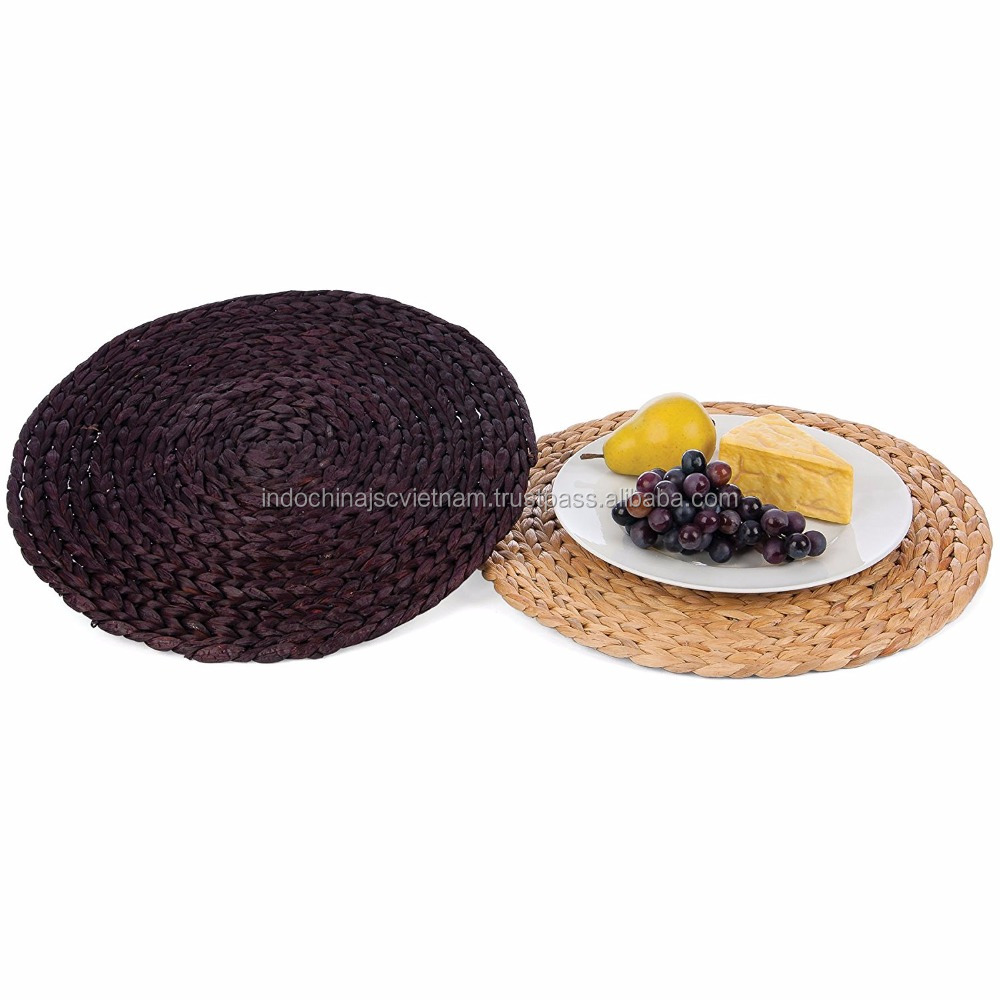 HOT selling water hyacinth charger placemat/ charger plate holder