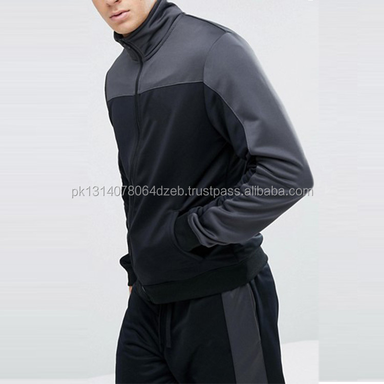 2018 new style fashion polyester customized slim fit men tracksuits
