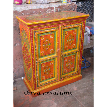 Traditional Hand Painted Cabinet From Jodhpur Indian Furniture