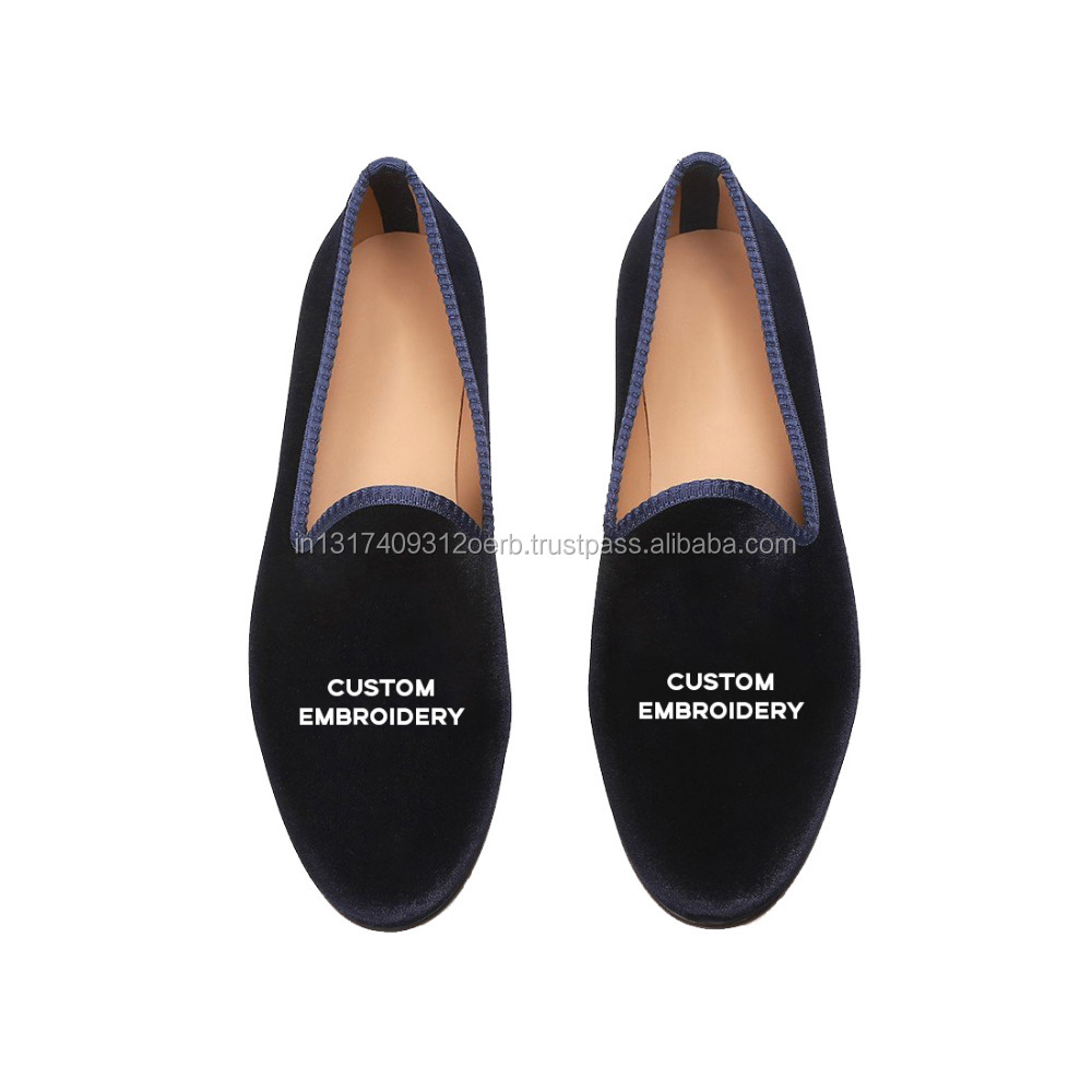 Custom Velvet Private Label and Suede manufacturing Loafers for Men high India Embroidered quality in axI08wra