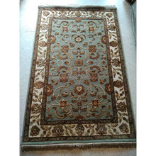 4x6 Hand knotted persian rug wool silk carpet