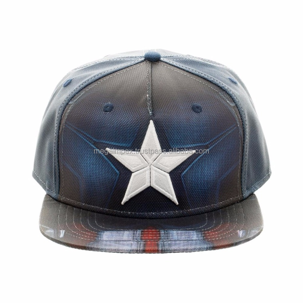 sublimated Snapback Caps - Print Black and white Snapback Cap Hat for Men Baseball Cap