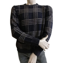 Casual Men's sweater crew 넥 merinos blend made in italy