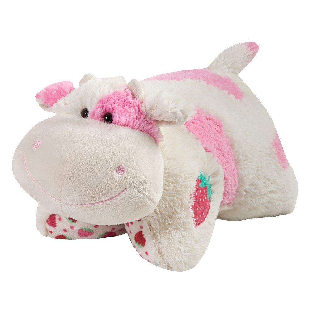 Pillow Pets Sweet Scented Strawberry Milkshake Cow Stuffed Animal Plush