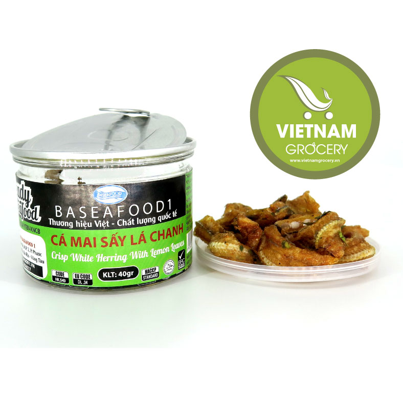 Vietnam High-Quality Crisp White Herring With Lemon Leaves 50g