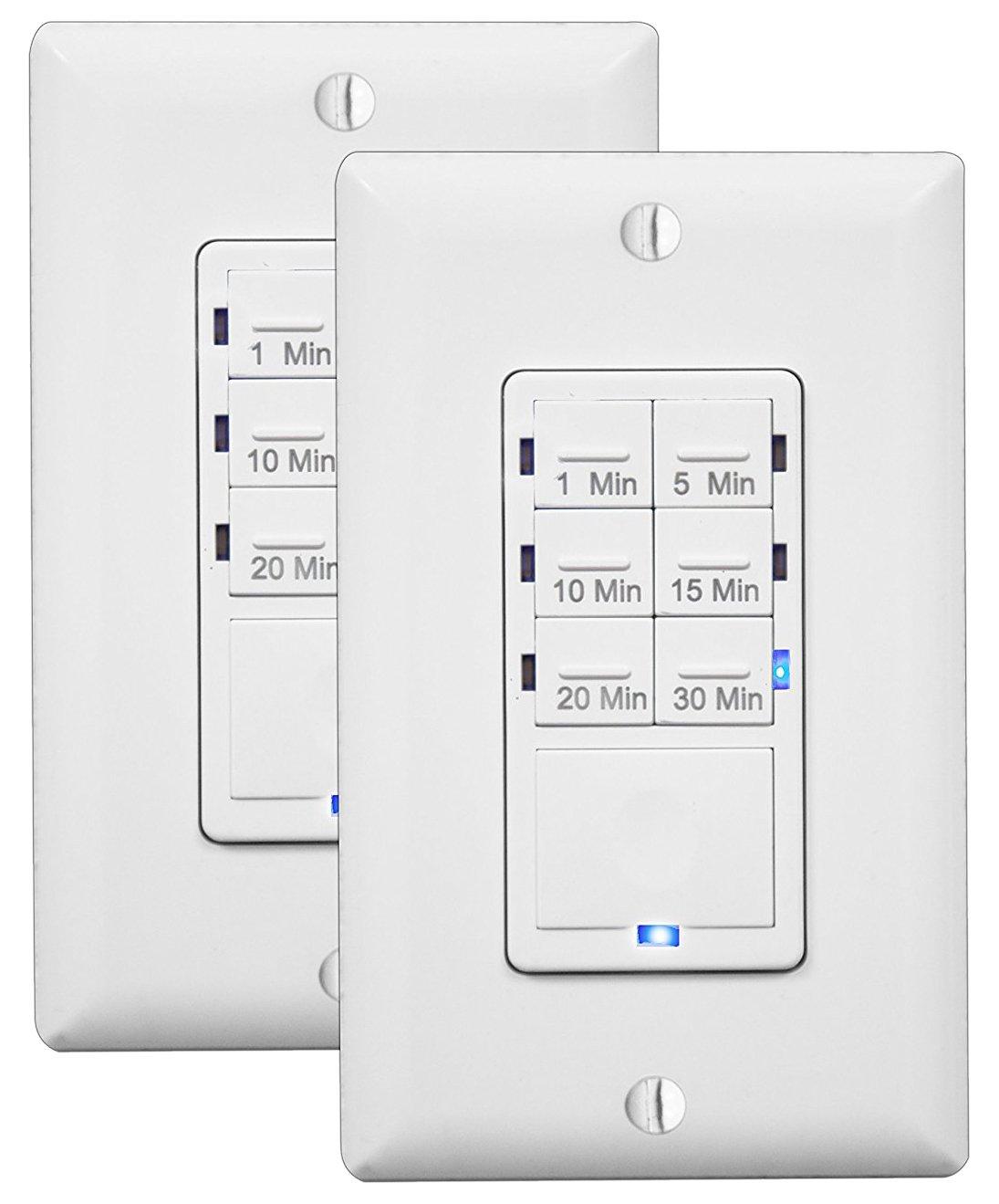 Switch,Tap//Rocker,120V,Timer 1-30 Mins LUTRON MA-T530G-WH