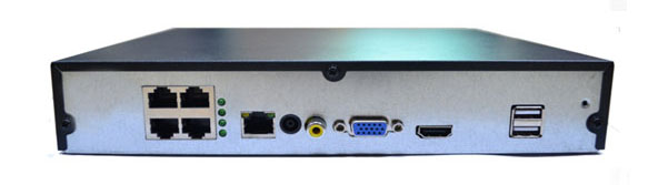 4 Channel 1 SATA HDD H.265 1080P 4MP 5MP PoE NVR