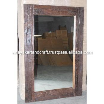 Vintage Industrial Mirror Frame Jodhpur Antique Railway Sleeper Wood Mirror  Frame Bedroom Furniture Mirror Frame - Buy Vintage Industrial Mirror