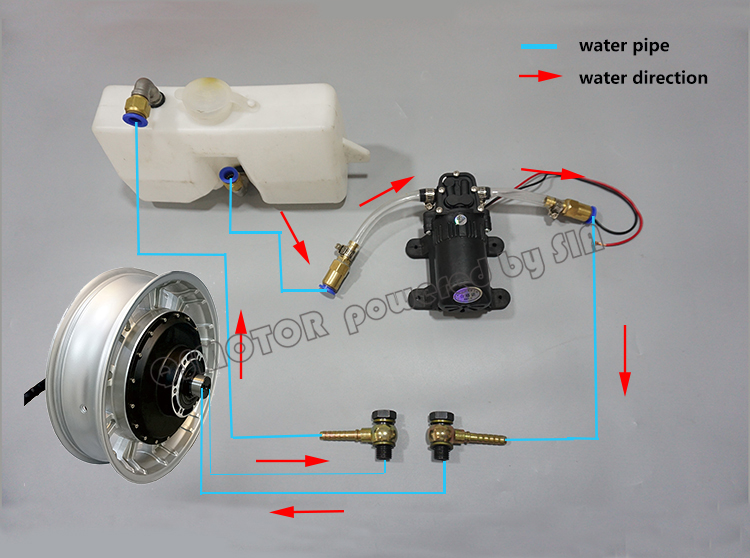 QS Motor 12kw 14kw Water Cooled Kits Assembly