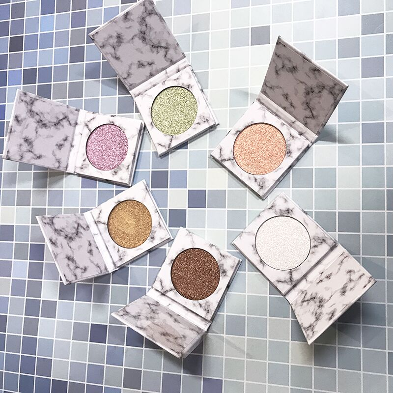 FUNDY MAKEUP 12 marble palette highly pigmented pressed private label highlighter makeup