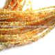 Good Quality Natural Yellow Color Ethiopian Opal Chips Smooth With Multi Fire Loose Beads Strands