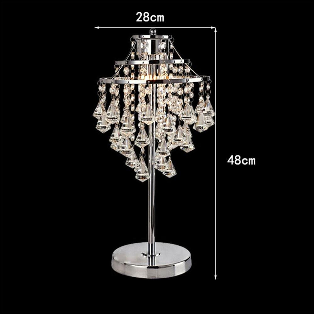 WENBO HOME- Simple Crystal Table Lamp Decorative Bedside Lamp Warm Bedroom Wedding Living Room Creative Lamp -Desktop lamp ( Color : Large )