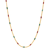 Gold Plated Maroon Green Enamel Work Dailywear Locket Chain For Women