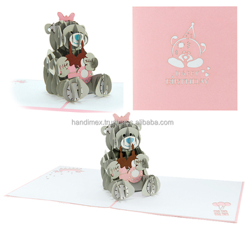 Me To You Pop Up Card Fancy Children 3D Birthday Laser Feature