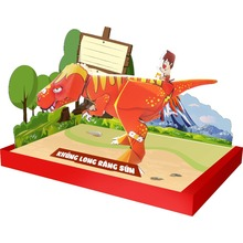 <span class=keywords><strong>Vietnam</strong></span> <span class=keywords><strong>Speelgoed</strong></span> Product 3D Papier Model Diy Puzzel Moving Dinosaurus Papier <span class=keywords><strong>Speelgoed</strong></span>