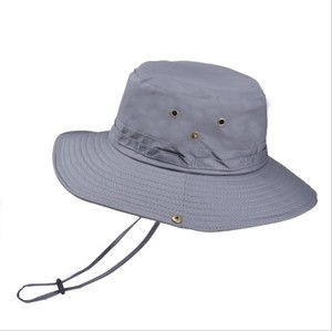 Fashionable Sport Quick-dry Fold Outerdoor Blank Summer Jungle Fishing Bucket Hat with String