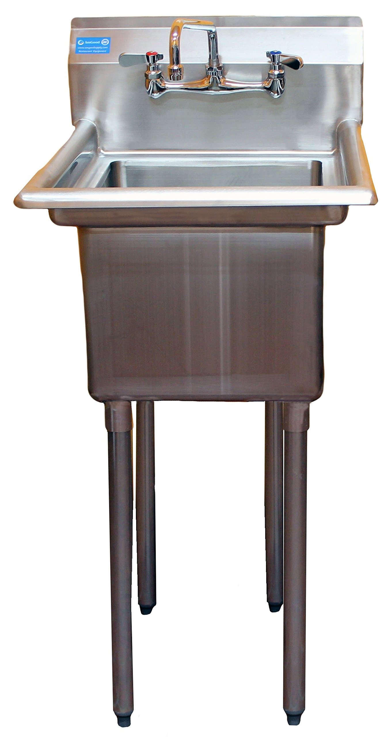 Get Quotations · AmGood Commercial Stainless Steel Sink   1 Compartment  Restaurant Kitchen Prep U0026 Utility Sink With 10