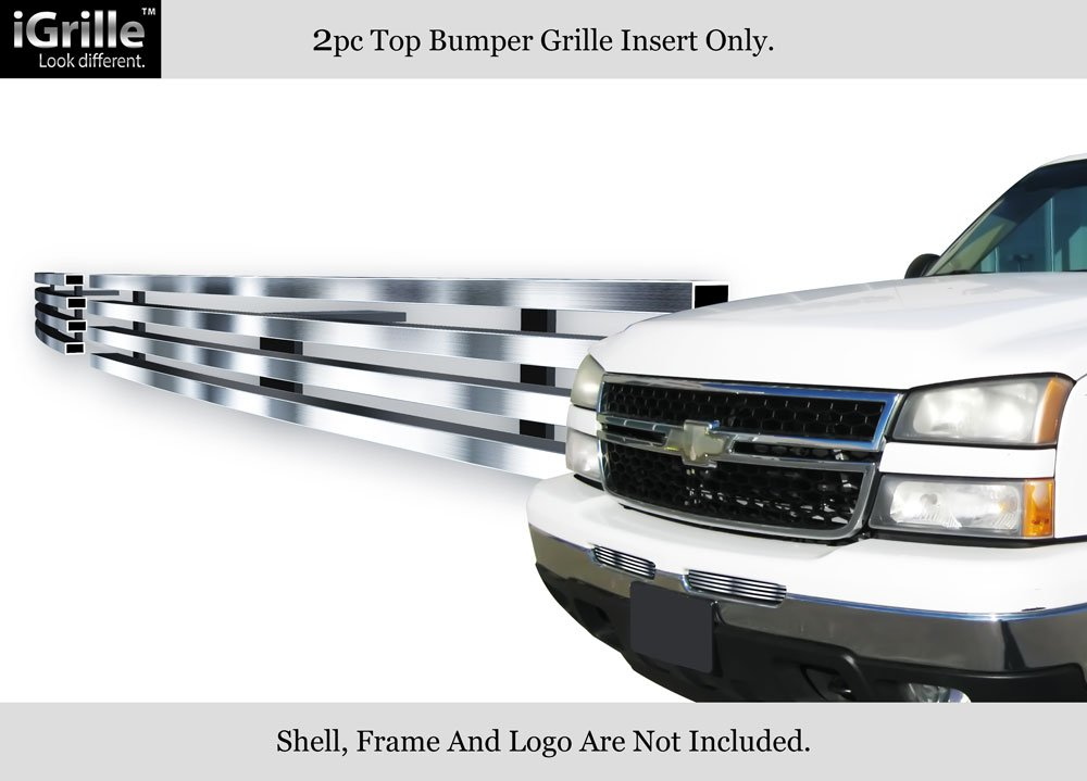 Stainless Steel 304 Billet Grille Grill Custome Fits 2003-2006 Chevy Silverado 1500/2500/3500