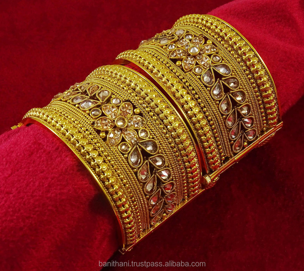 indian with plated gold bangle product ethnic tag bangles quick lock shop key stones semiprecious style gram pearls