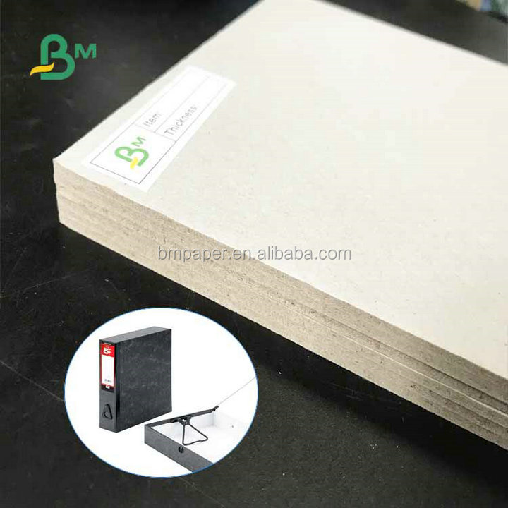 Eco-friendly Recycled Pulp 600gsm 800gsm 1200gsm  Uncoated Grey Board in Sheet For Packages Boxes
