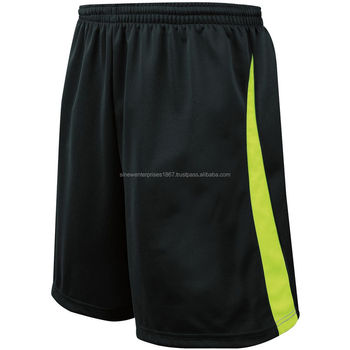 d4398d68984c Black Soccer Short With Yellow Side Strip - Buy Cheap Soccer Shorts ...