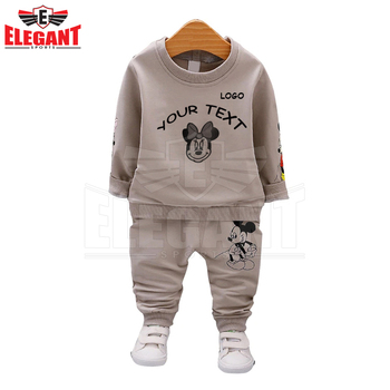 Low MOQ Baby Boys Clothes Full Sleeve T-shirt And Pants 2pcs Cotton Suits Children Clothing Sets Toddler Brand Tracksuits
