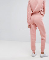 Factory custom pink faux suede tracksuit bottom Blank velour jogger sweatpants