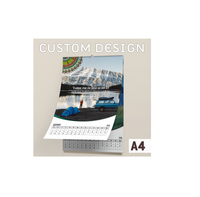 Premium Quality Custom Double Design Spiral Bound Wall Printing Planner Calendar - Full Color 150 gsm - A4 Paper Size