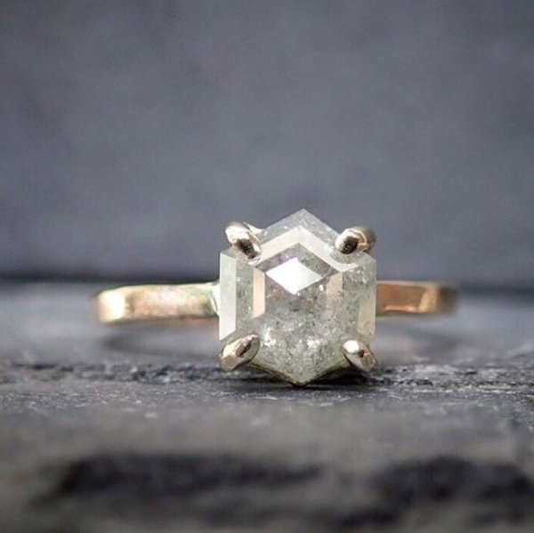 3.0 To 3.4 MM Salt And Pepper Hexagon Shape Minimal Diamonds 1.11 CT Engagement Ring Jewelry Diamonds 9 pcs OM4358 Best Price Diamonds