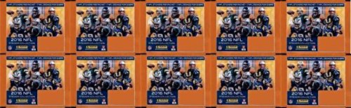 10 (Ten) Sticker Packs - 2016 Panini NFL Sticker Collection Football Card Stickers (7 Stickers per Pack)