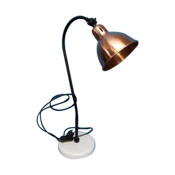 Metal Copper Shade Study Table lamp For Office