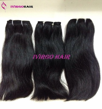 Straight hair natural hair vietnamese virgin remy hair extensions with blunt cut