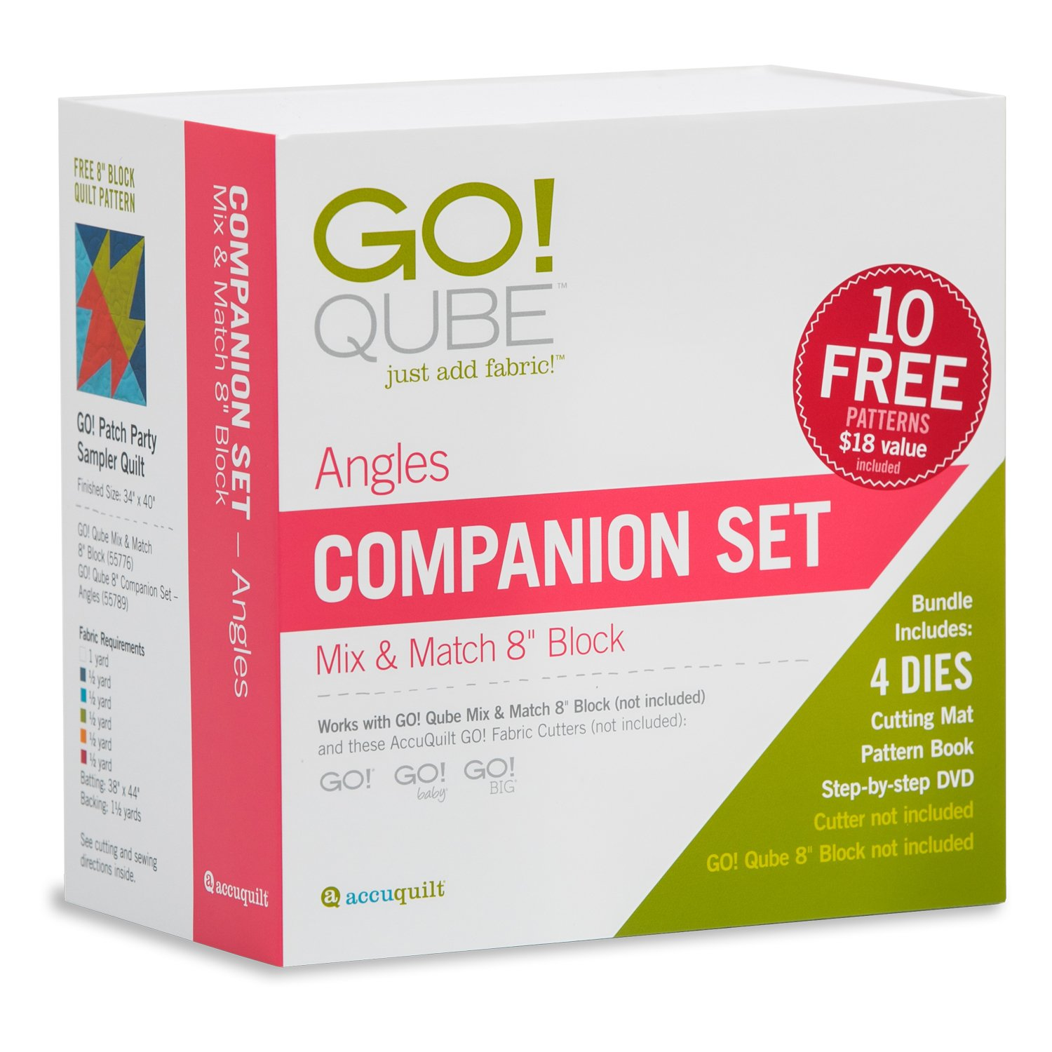 "Accuquilt GO! Qube 8"" Angles Companion Fabric Die Set"