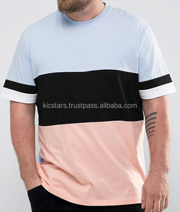 cheap t shirt super oversized with cut and sew panels contrast