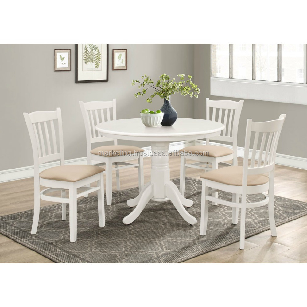 Modern dining room set with mdf table and cushion chair