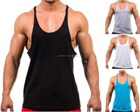 100% Cotton Manufacturer Bulk low Sleeves Tank Tops Custom Men Gym Singlet