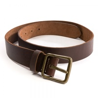 Design leather belt for men with silver pin buckle